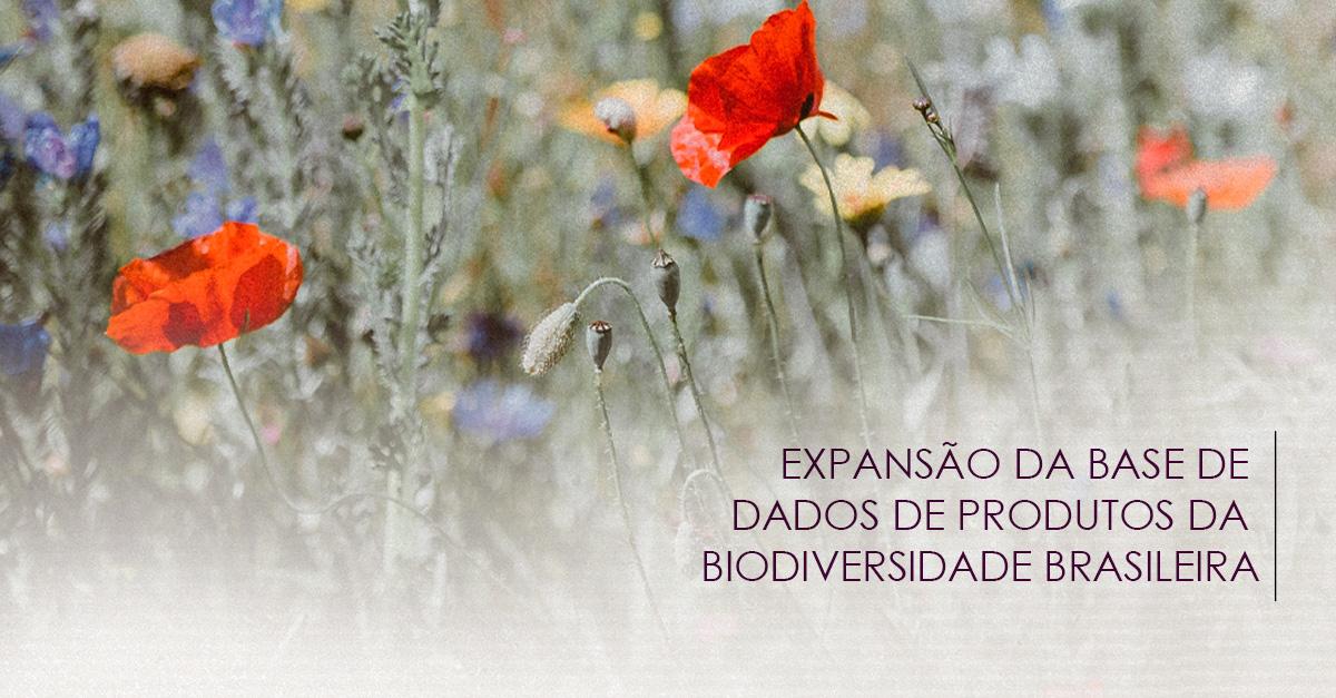 Expansão da base de dados de produtos da biodiversidade brasileira