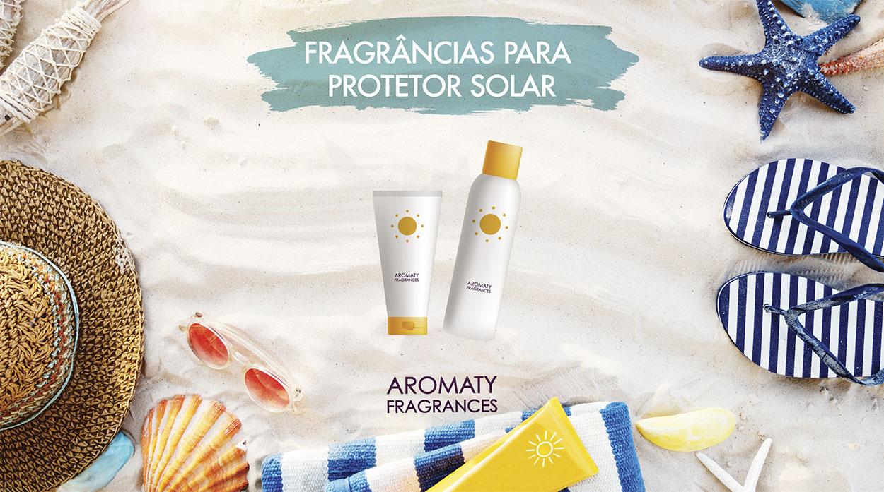 Fragrâncias para Protetor Solar